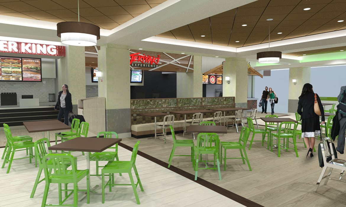 Atlanta Airport Food Court Mosaic Design Studio